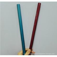 Garantía de calidad 100% tubo de color de fibra de carbono real