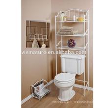 Creative Bath 3 pièces sur l'étagère de toilette avec roues \ Space Saving Self pour salle de bain