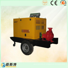 Trailer Mobile Diesel Engine Drive 30HP50HP Bomba de água
