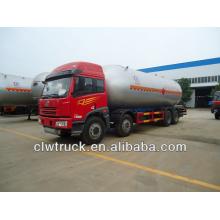 FAW 8x4 lpg truck, 34.5m3 lpg camión de transporte para la venta