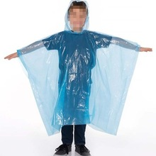 Disposable Custom Emergency Waterdichte Plastic Regen Poncho