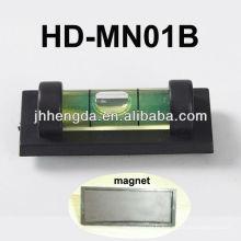 HD-MN01-B, Mini niveau en plastique avec rainure en V pour tuyau