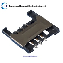 6p Push Push H = 1.80 мм Разъем для SIM-карты Socket