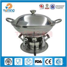 nuevo diseño de cocina de fondue antiadherente de acero inoxidable