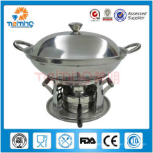 new design stainless steel nonstick fondue cooker set