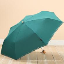 21 polegadas 8 costelas guarda-chuva ECO com alça de bambu