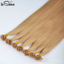 U Tip Hair Extensions Human Remy Cuticle Aligned 100% Wholesale Blonde With Long Lasting