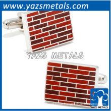 Brick wall cufflinks, customize high quality metal cufflink crafts