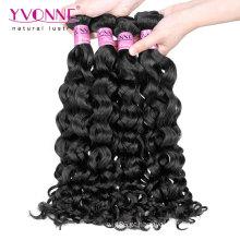 Cabelo humano peruano não processado do cabelo 100% do Virgin do preço de grosso