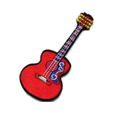 Guitar Musical Instrument Embroidery Patches