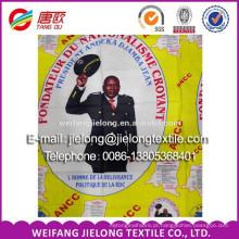 Tecido de cera impresso para eleições africanas ou eventos promocionais