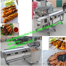 Máquina de espárragos de carne de barbacoa / espátula Satay máquina