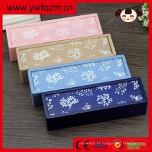 caja de lápiz hermosa de madera de la flor japonesa