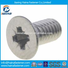 China Supplier Stock acier inoxydable DIN7500-M Vis à tête fraisée encastrée en croix M