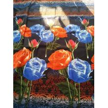 Tissu imprimé en polyester de conception de mode