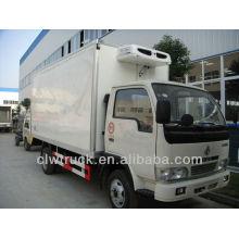 4-5 Tons Dongfeng freezer, Mini frigorífico congelador caminhão na Índia
