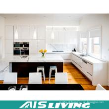 Mobília do armário de cozinha da L-Forma com console de cozinha (AIS-K249)