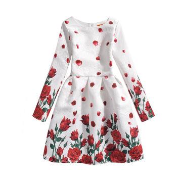 Дети Последней Моде Длинный Рукав Ребенок Платье Дизайн Платье Девушки 9 Лет Для Зима Осень Весна