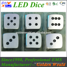 Polyhedral Metal Dice colorful LED CNC aluminium alloy dice