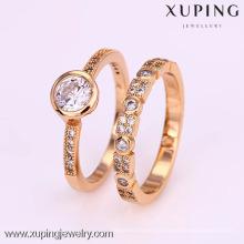 12312-Xuping 18K Anillo de compromiso de oro amarillo con diamantes