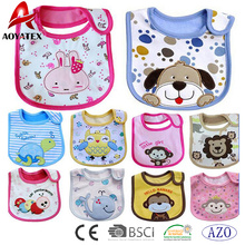 new design embroidered cotton baby bibs polyester printing cute baby drool bibs