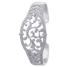 Bracelet en argent 925 avec bijoux plaqués au rhodium CZ pour cadeau
