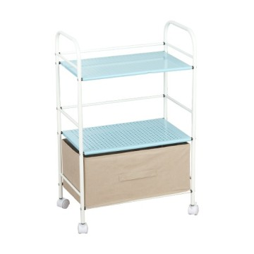 Mesh Rolling Cart Storage Rack Shelving
