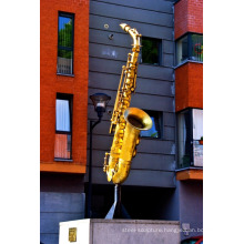 art deco riproduzioni metal craft bronze saxophone sculpture for garden