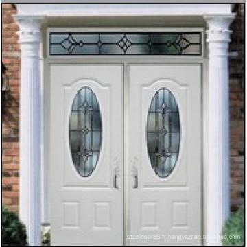 3PNL ovale avec porte en verre double en acier