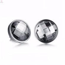 Bijoux de haute qualité en acier inoxydable noir boucles d'oreilles en acier
