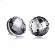 High quality black metal stainless steel earrings jewelry