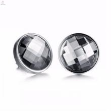 Alta qualidade de metal preto de aço inoxidável brincos de jóias