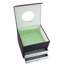 Caja de presentación de joyería de lujo con pequeño cajón