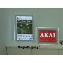 Crystal Transparent Frame LED Desk Light Box