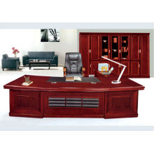 large executive desk with paper veneer