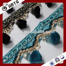 Stock de mercadorias bonitas frangas de pompon para cortina deco e decoração de lâmpadas