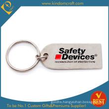 Custom Metal Safety Keychain with Matt Nickel Plating
