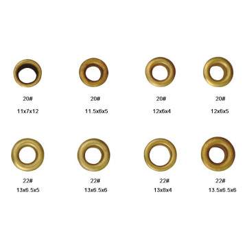Metal Eyelets for Shoe and Garments