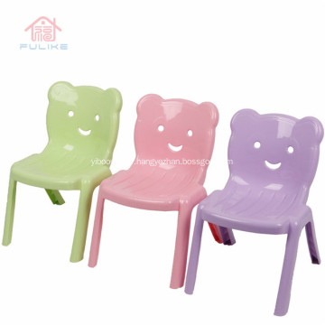 Plastic Kids Chair With Backrest Stackable
