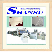 PVC wood skinning foaming board extrusion line / extrusion machine
