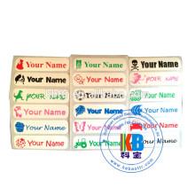 Ferro em etiquetas de nome etiqueta de nome 46mm * 12mm * 2000pcs fardas de nome de uniforme escolar