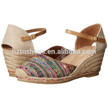2016 Summer Laides Close Toe Wedge Shoes