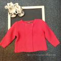 pulls en vrac en vrac vente chaude pour l'automne et l'automne / hiver collection enfants vêtements chandails bébé filles 1 ans cardigans rouge