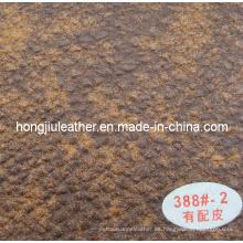 Alternancia de oro con el cuero Sipi grueso de Brownness para el sofá