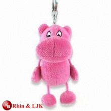 Red color plush toy keychain