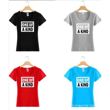 Fashion Cotton Custom Colorful Printing Women Tee T Shirt