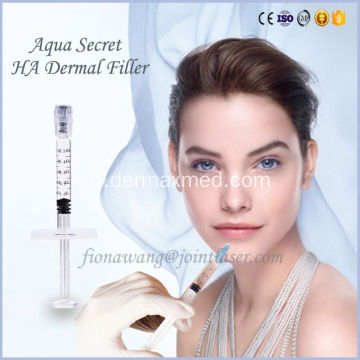Enduit cutané injectable de hyaluronate injectable en gel HA