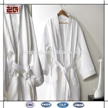 Collar de lujo del mantón 100% algodón del terciopelo largo Albornoz elegante de los pares