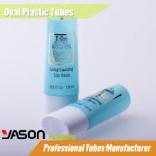 2014 moda mais recente cosméticos tubos de teste de plástico transparente com tampa