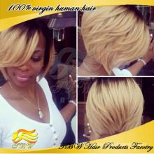 2015 New design fashion Human hair ombre bob wigs